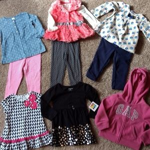 10pc. Baby Toddler Girls Outfit Lot 18mo. New
